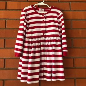 HANNA ANDERSSON Long Sleeve Red Striped Dress